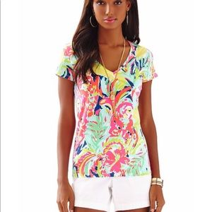 1eb755f6ccd36 Lilly Pulitzer Michele V Neck Top